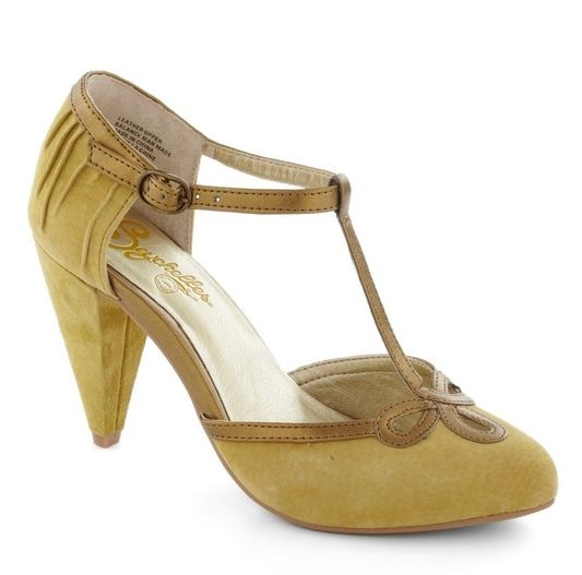 Seychelles mustard yellow t-strap heels