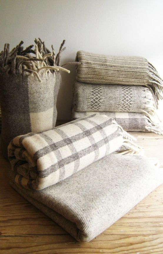 cozy gray wool blankets